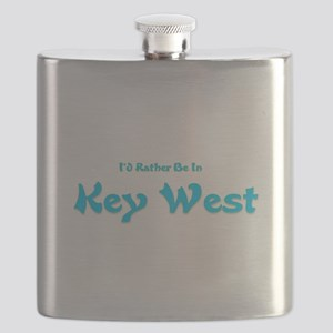 Id Rather Be In Key West Flask