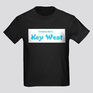 Id Rather Be In Key West Kids Dark T-Shirt