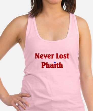 Never Lost Phaith.png Racerback Tank Top