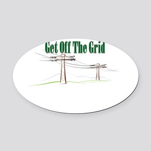Get Off The Grid Oval Car Magnet