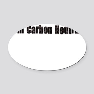 Im Carbon Neutral Oval Car Magnet
