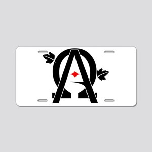 Alpha And Omega Combined Aluminum License Plate