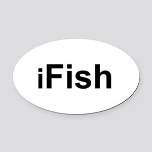 iFish Oval Car Magnet