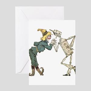 Oz Scarecrow and Tin Woodman Greeting Card
