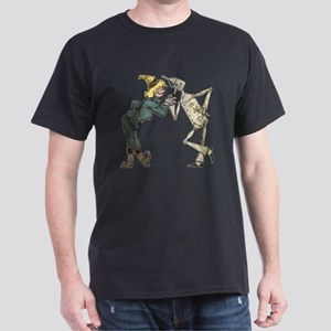 Oz Scarecrow and Tin Woodman Dark T-Shirt