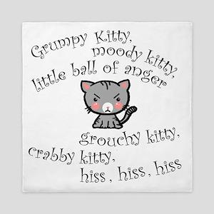 Grumpy Kitty Queen Duvet