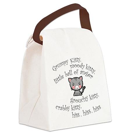 Grumpy Kitty Canvas Lunch Bag
