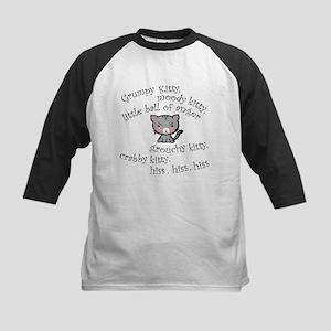 Grumpy Kitty Kids Baseball Jersey
