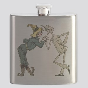 Oz Scarecrow and Tin Woodman Flask