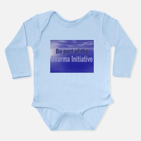 Dharma.png Long Sleeve Infant Bodysuit