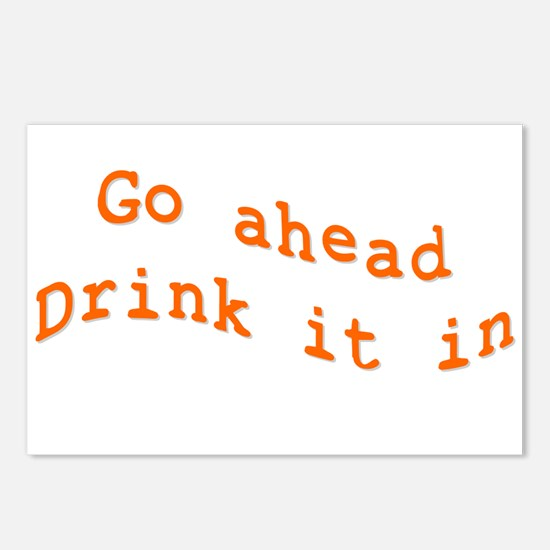 Drink it in.png Postcards (Package of 8)