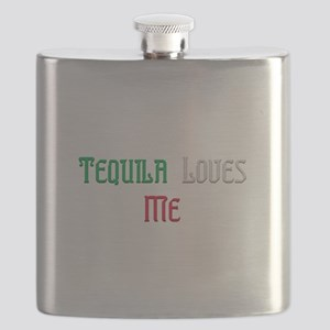 Tequila Loves Me Flask