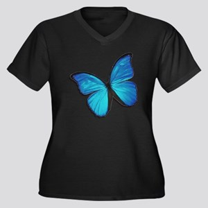Blue Morpho Butterfly Plus Size T-Shirt