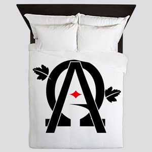 Alpha And Omega Combined Queen Duvet