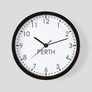 PERTH Modern Newsroom Wall Clock