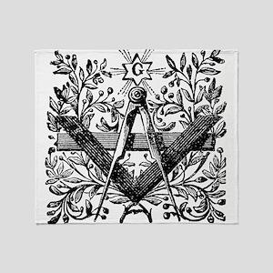 Masonic Working Tools with Laurel Throw Blanket
