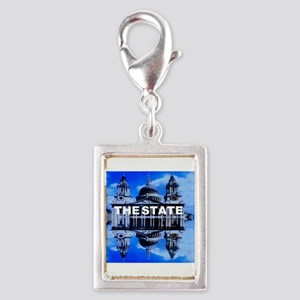 The State Silver Portrait Charm