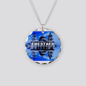 The State Necklace Circle Charm