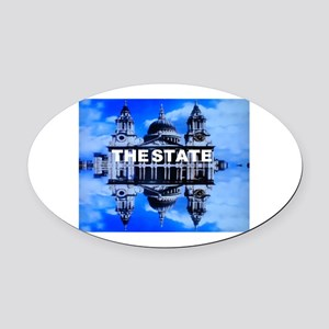 The State Oval Car Magnet