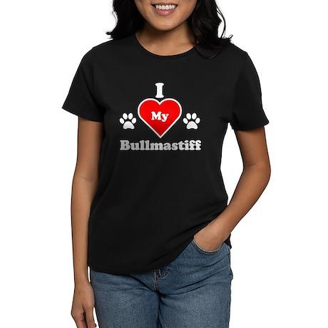 I Heart My Bullmastiff Women's Dark T-Shirt