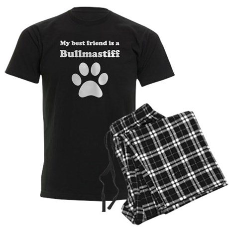 Bullmastiff Best Friend Men's Dark Pajamas