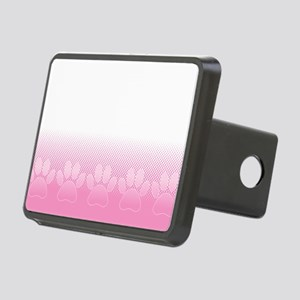 Pink And White Paws With N Rectangular Hitch Cover