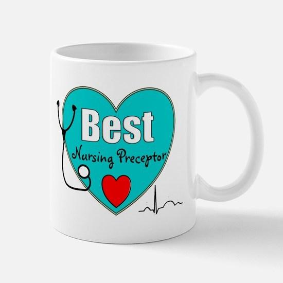 Best Nursing Preceptor blue Mugs
