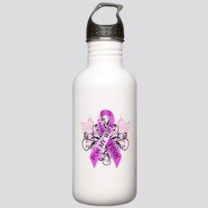 I Wear Pink for my Wife Stainless Water Bottle 1.0
