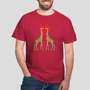 Giraffe Love Dark T-Shirt