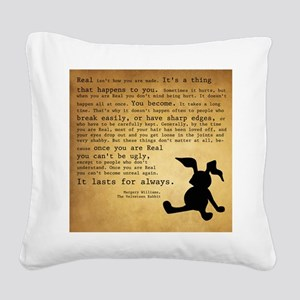 Velveteen Rabbit Print Square Canvas Pillow