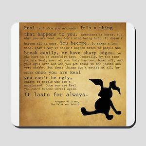 Velveteen Rabbit Print Mousepad