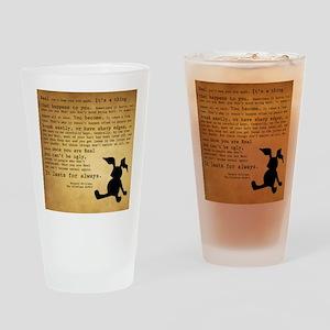 Velveteen Rabbit Print Drinking Glass