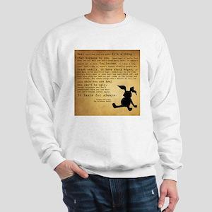 Velveteen Rabbit Print Sweatshirt