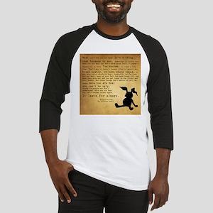 Velveteen Rabbit Print Baseball Jersey