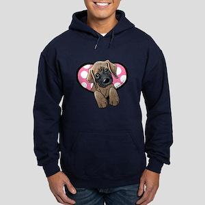 Mastiff Sweetheart Girl Hoodie (dark)