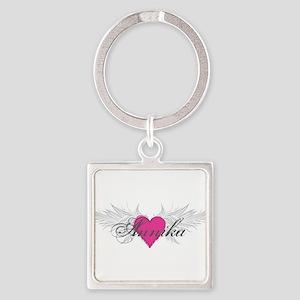 My Sweet Angel Annika Square Keychain