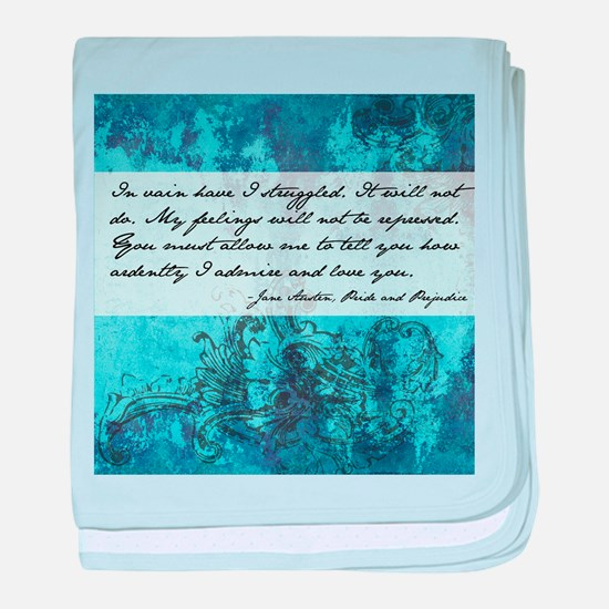Pride and Prejudice Quote baby blanket