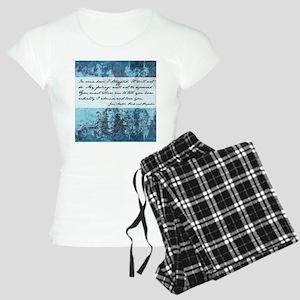 Pride and Prejudice Quote Women's Light Pajamas