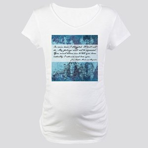 Pride and Prejudice Quote Maternity T-Shirt