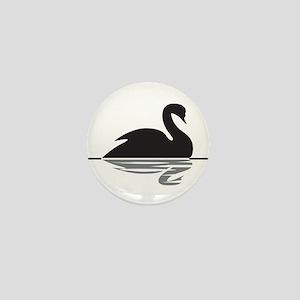 Black Swan Mini Button