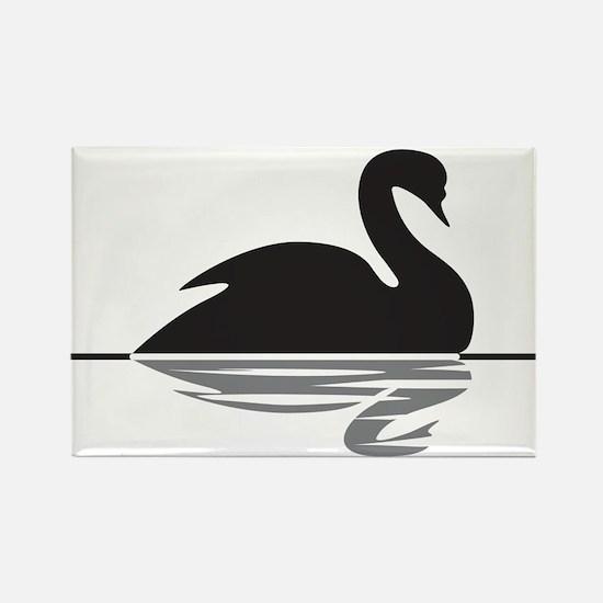 Black Swan Rectangle Magnet