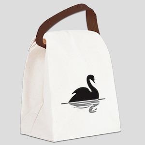 Black Swan Canvas Lunch Bag