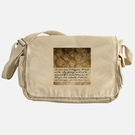 Pride and Prejudice Quote Messenger Bag