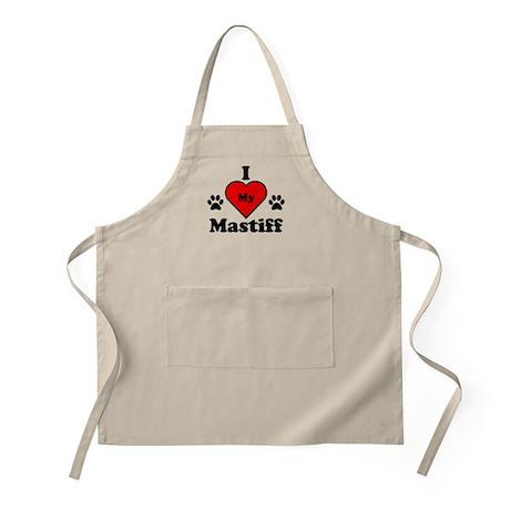 I Heart My Mastiff Apron
