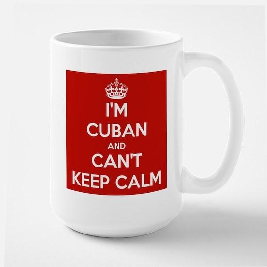I'm Cuban and I Can't Keep Calm Large Mug