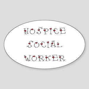 Hospice SW Hearts Oval Sticker