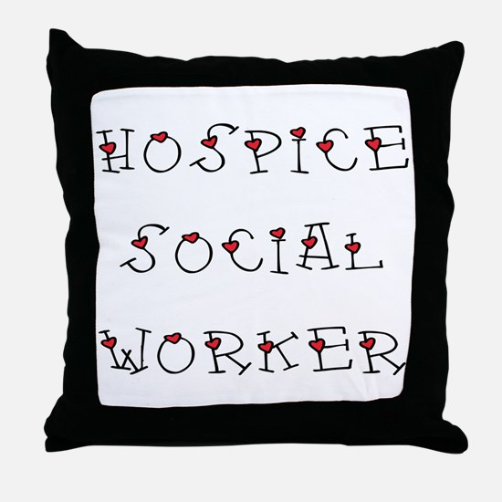 Hospice SW Hearts Throw Pillow