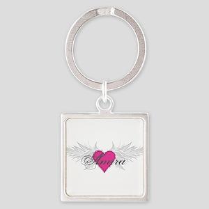 My Sweet Angel Amira Square Keychain