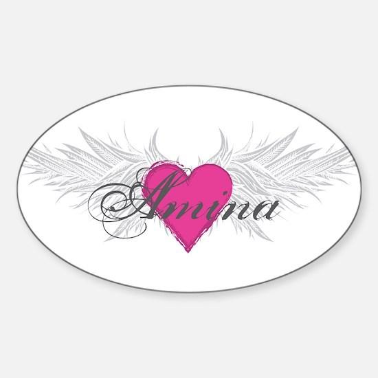 My Sweet Angel Amina Sticker (Oval)