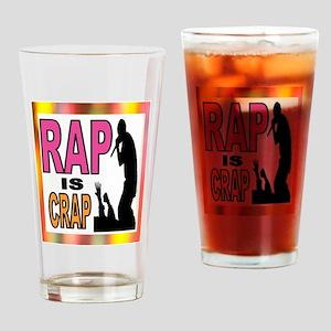 RAP CRAP Drinking Glass